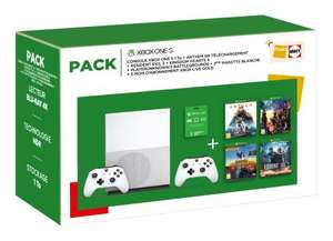 Xbox One S 1TB + 2. Controller + Anthem Legion of Dawn Edition + Resident Evil 2 + Kingdom Hearts 3 + PUBG + 3 Monate Xbox Live Gold