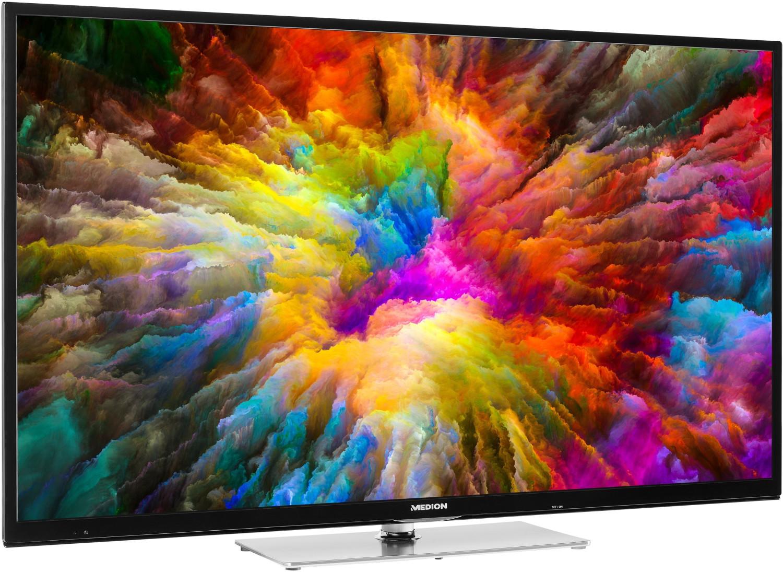"Medion Life X15022 (50"", Ultra HD, Edge-LED, 50Hz, HDR10 & Dolby Vision, 8bit+FRC, 350 cd/m², Triple Tuner, Smart TV, PVR, DTS, CI+)"