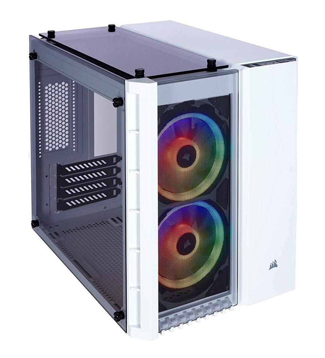 CORSAIR Crystal 280X TG RGB Mini-Tower (bis µATX) in weiß oder schwarz