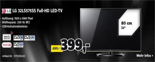 [Conrad] BlackFriday Angebot LG 32LS575S Smart-TV 200Hz   für 399,- inkl. Versand