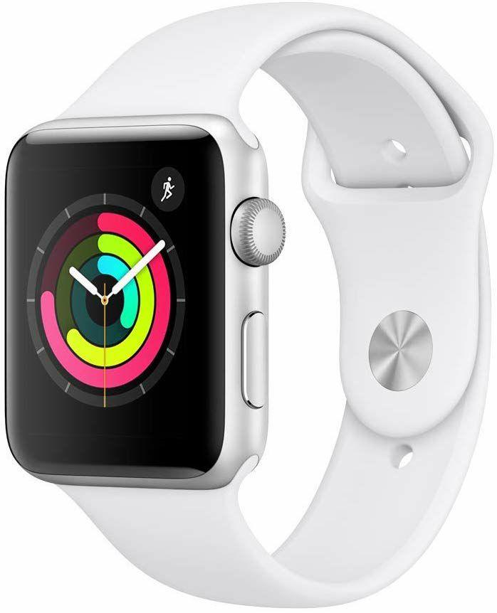Apple Watch Series 3 (GPS) Aluminium 42mm silber mit Sportarmband weiß für 239€ bei (Fnac.fr) oder 241€ bei (Amazon.fr)