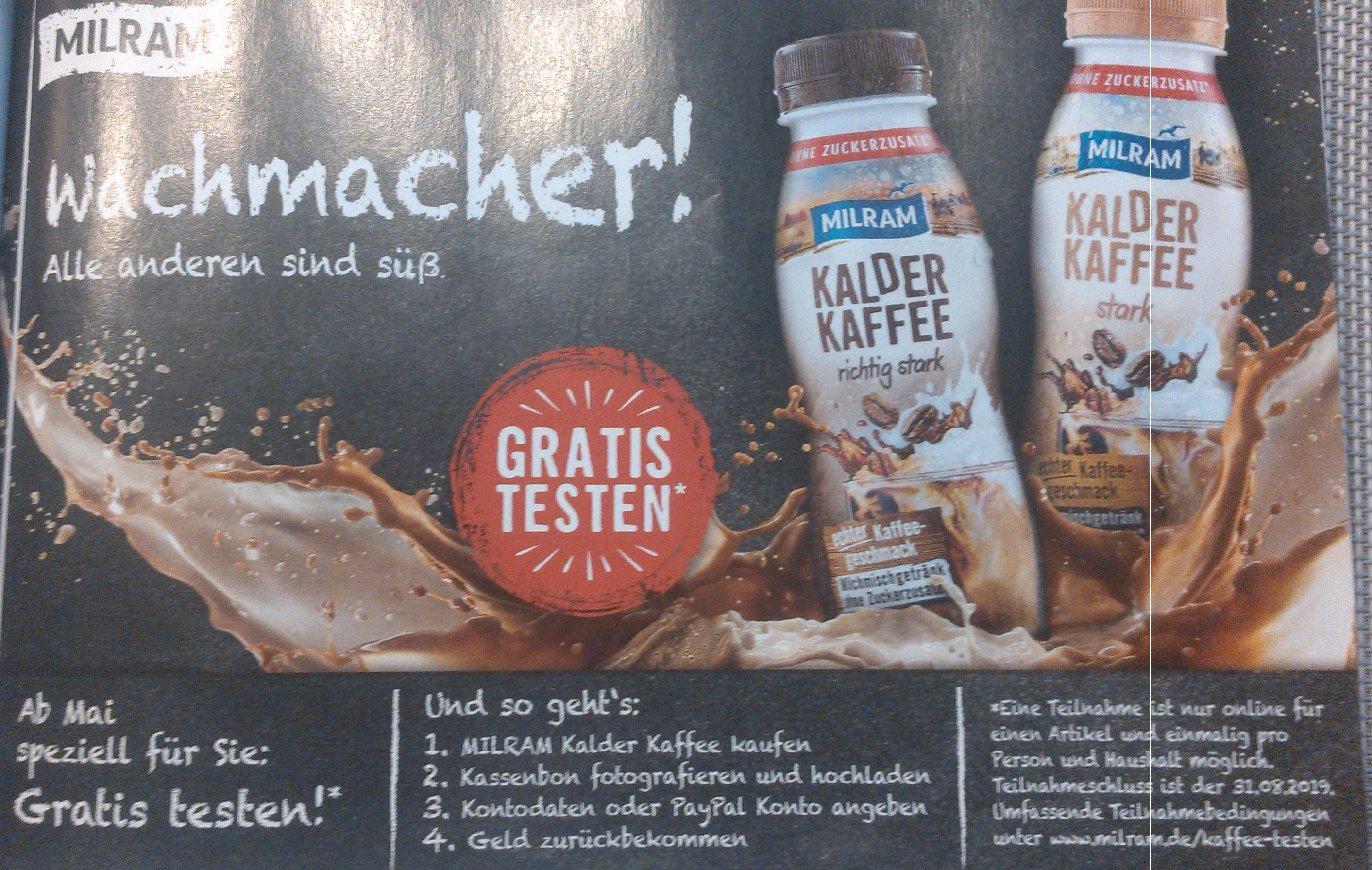 MILRAM Kalder Kaffee gratis testen - GzG