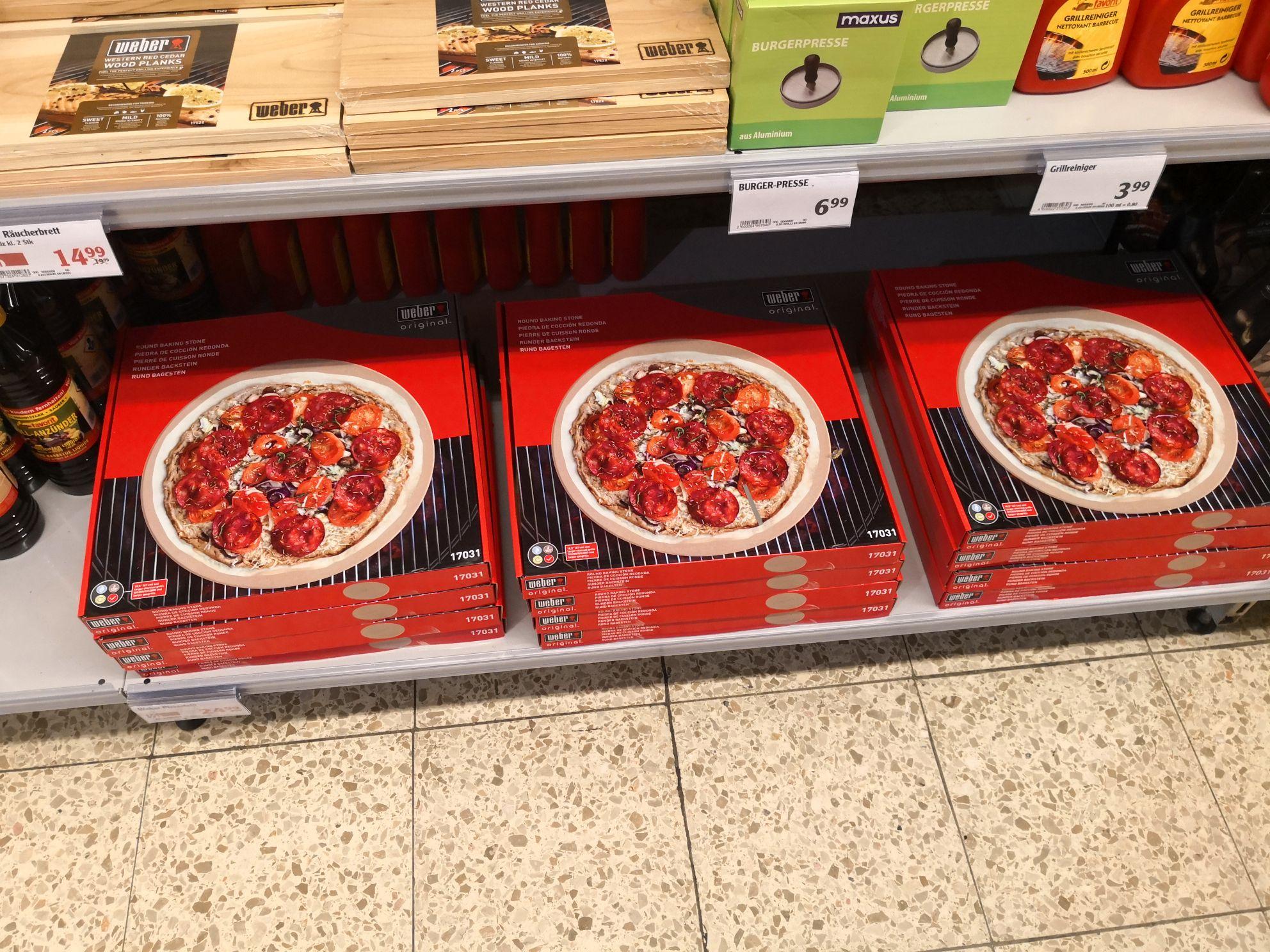 (Lokal) Weber 17031 Pizzastein Globus Dutenhofen
