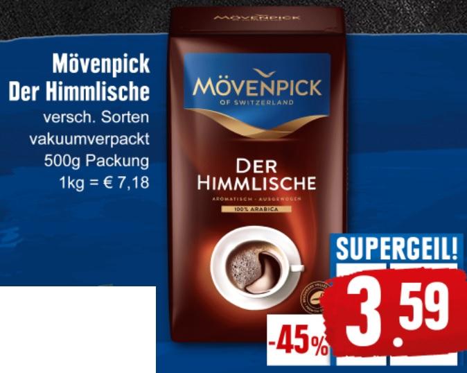 (Edeka) Mövenpick Kaffee-Der Himmlische, 500 gr. Packung, -45 %