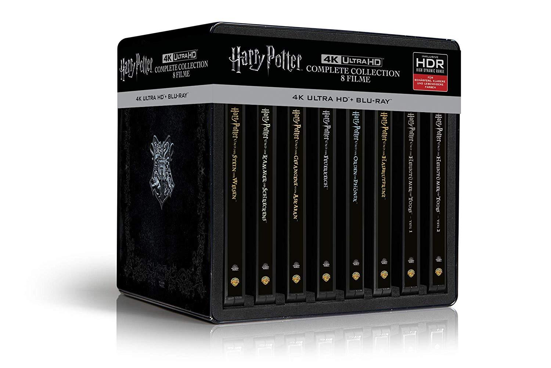 Harry Potter 4K Steelbook Complete Collection (16-Discs) - (4K Ultra HD Blu-ray + Blu-ray) [Saturn Masterpass]