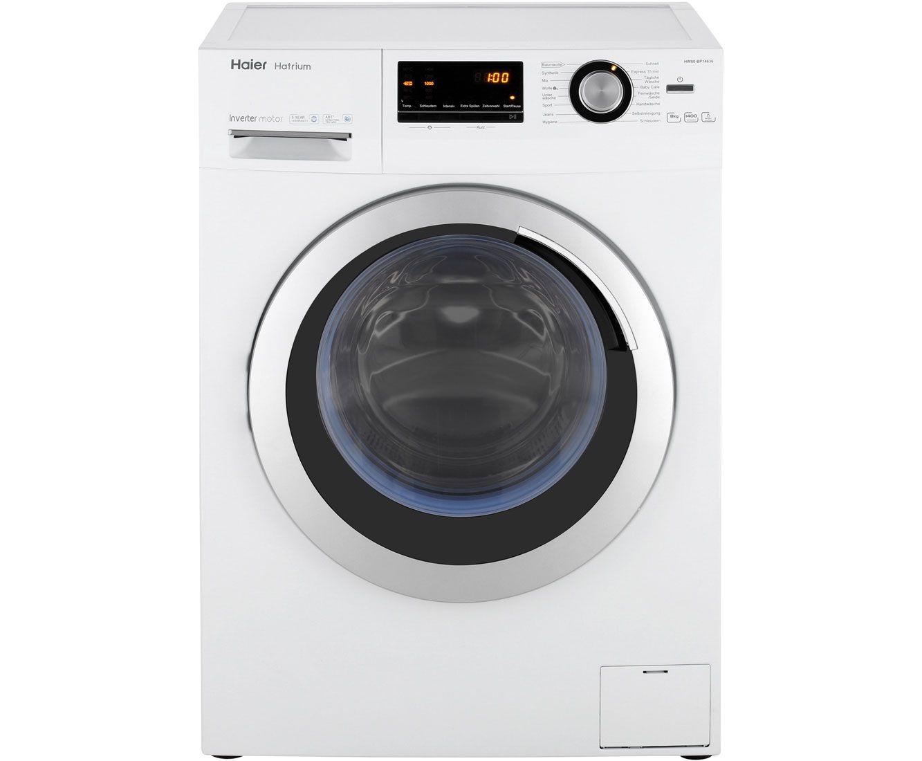 Waschmaschine Haier HW 80-BP14636 (A+++, 8kg, 1400 U/min, 16 Programme, Mengenautomatik, AquaStop) für 299€ durch 100€-Direktabzug