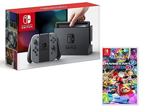 Nintendo Switch Konsole grau + Mario Kart 8 Deluxe im Bundle für 307,93€ inkl. Versandkosten
