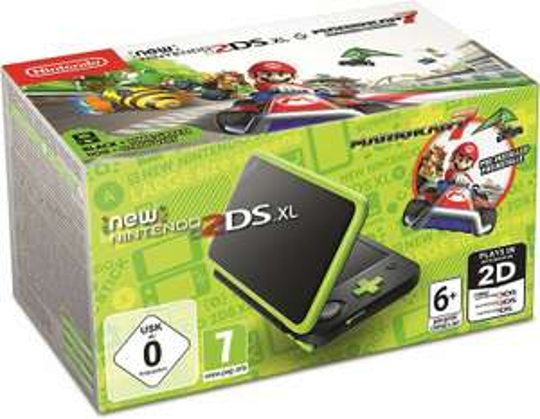 Nintendo New 2DS XL schwarz-apfelgrün + Mario Kart 7 (Amazon.fr)
