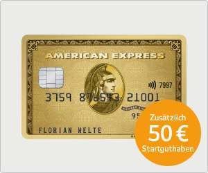 [gmx / web.de webcent]: American Express Gold Card mit max. 125 EUR Guthaben / Prämie