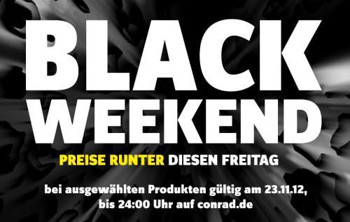 BLACK WEEKEND bei Conrad - viele Artikel reduziert