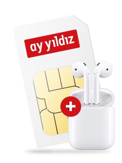 AY YILDIZ Flat 4,5GB + Airpods (1gen) +25€ Amazon Gutschein