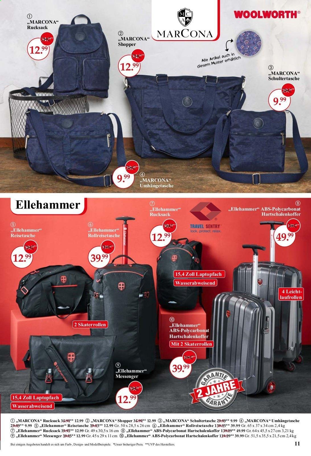 ( Woolworth ) Ellehammer ABS-Polycarbonat Hartschalenkoffer,Rollreisetaschen,Messenger,..