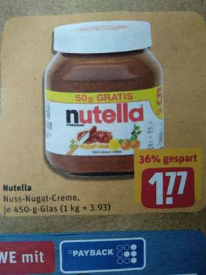 [lokal] ab 29.04. Egelsbach: Rewe Center: Nutella, 450g