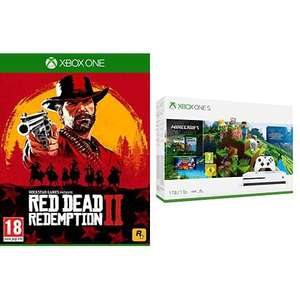Xbox One S 1TB Minecraft Bundle + Red Dead Redemption 2 (Xbox One) für 205,93€ (Amazon FR)