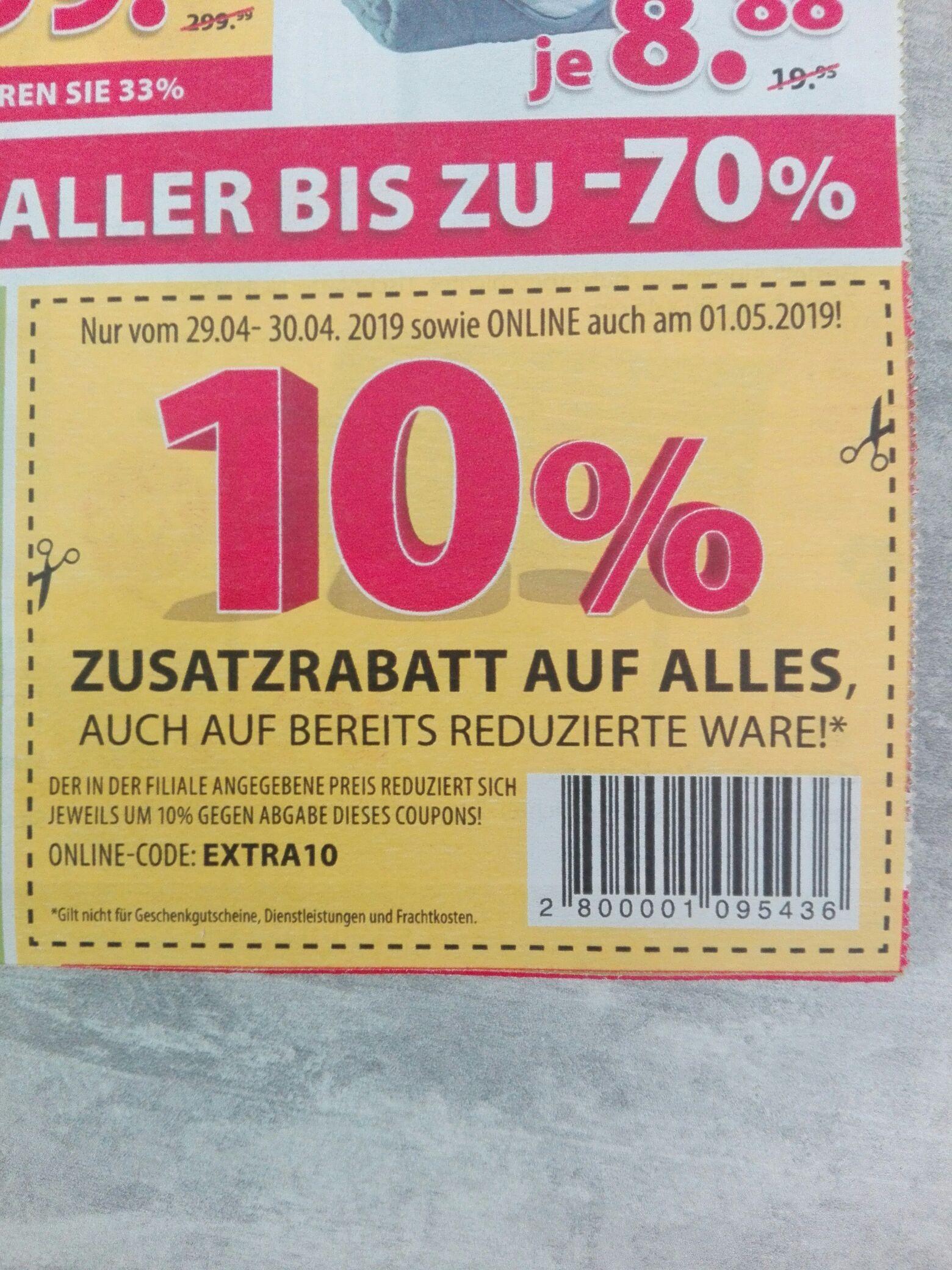 Dänisches Bettenlager 10%Rabatt vom 29.04-01.05.19
