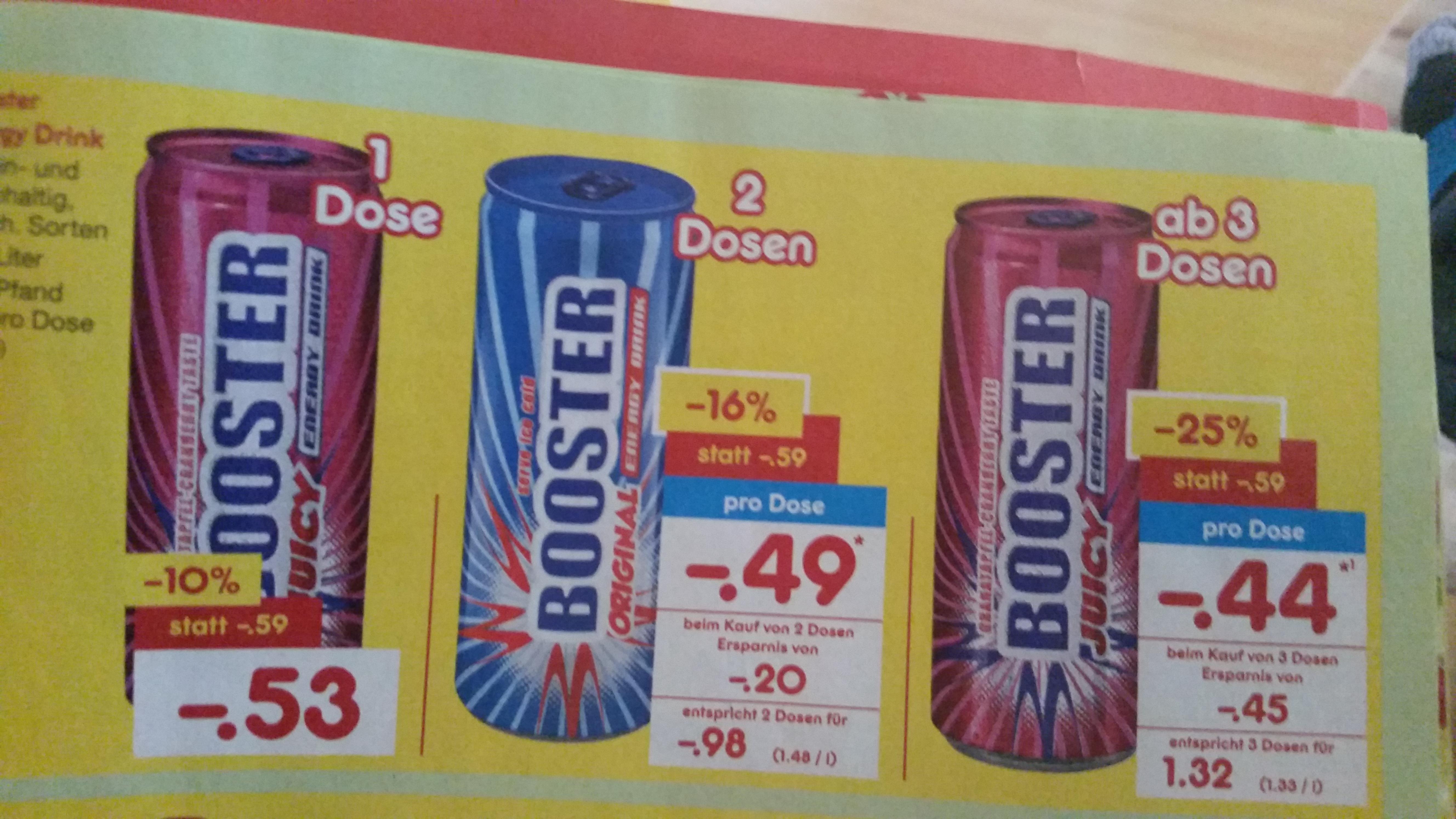 Energy Drinks - Booster MENGENRABATT [ Netto ]