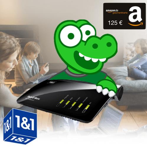 1&1 DSL mit 125€ Amazon Gutschein: DSL 50/100/250 (auch Young), 24 Monate MVLZ, mit FRITZ!Box und 1&1 Vorteils-Aktion (300€ oder Hardware)