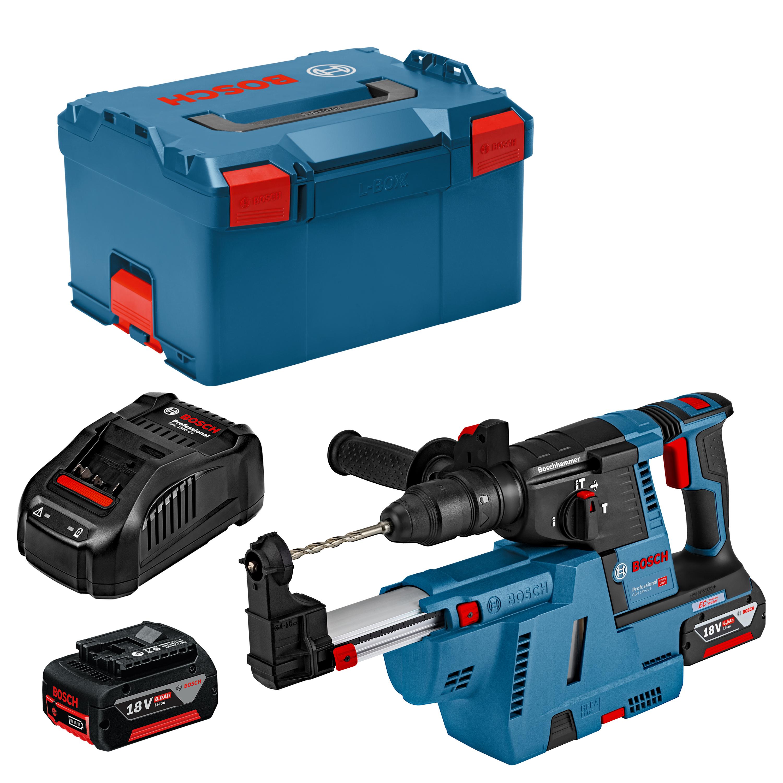 Bosch Akkubohrhammer GBH 18V-26 F Set (L-BOXX + Staubabsaugsystem, 2 x 6Ah, Ladegerät) - 10 € durch GS