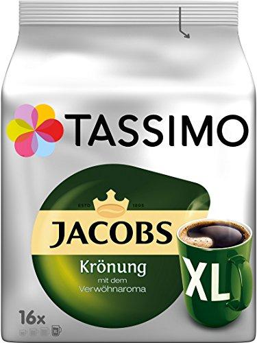 Amazon - Tassimo Jacobs Krönung XL, Milka, Crema, Latte Macchiato, Caramel, 5er Pack Kaffee T Discs, im Spar-Abo 15,26 €