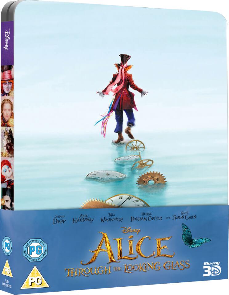 Alice im Wunderland Hinter den Spiegeln (3D+2D) Steelbook  Deutscher Tonspur