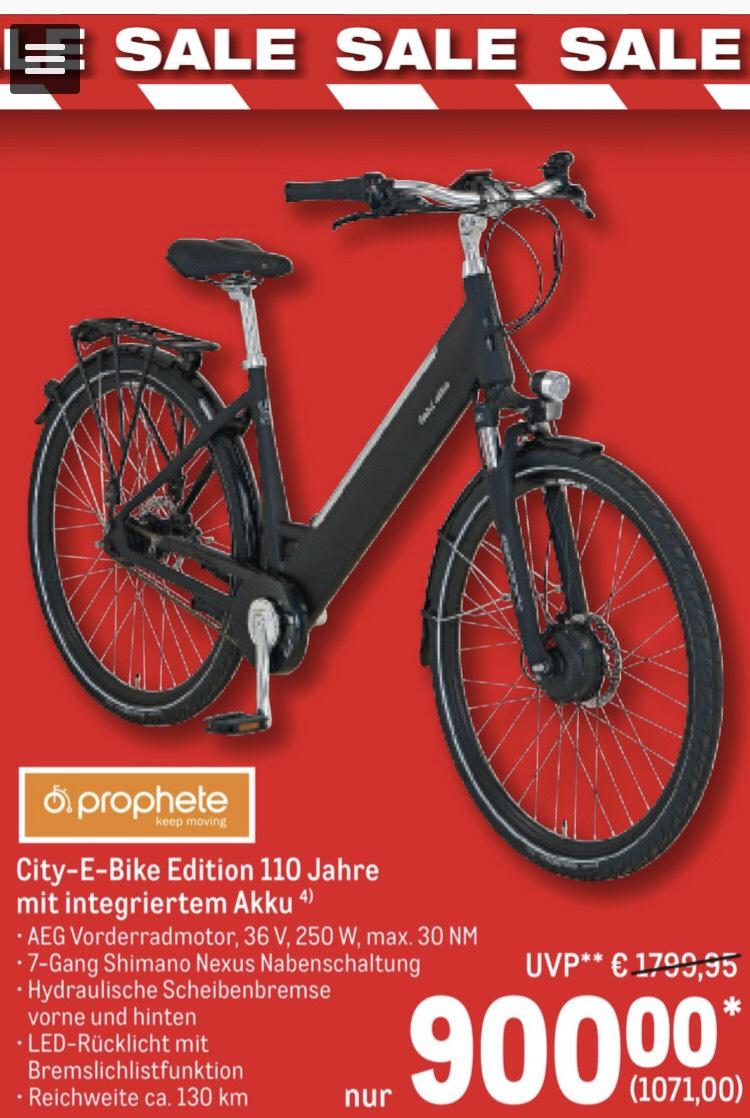 [Metro Sale] Prophete City E-Bike 110 Jahre Jubiliäumsedition 1.070,-€