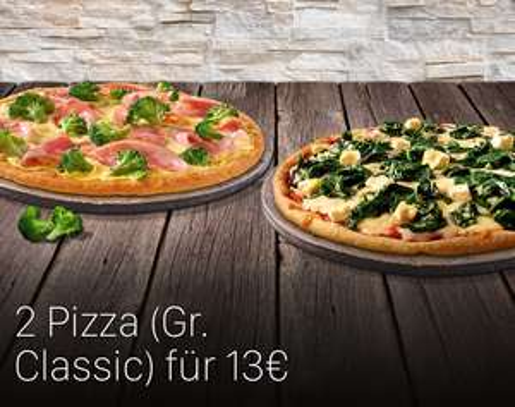 [Dominos Pizza] 2 Pizzen in der gr. Classic für nur 13€