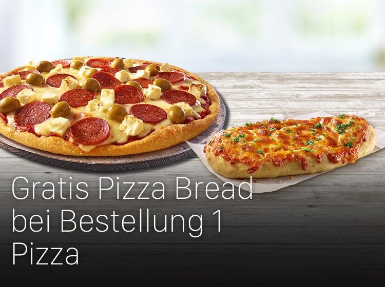 [Dominos Pizza] 1 Pizza Bread gratis bei jeder Bestellung