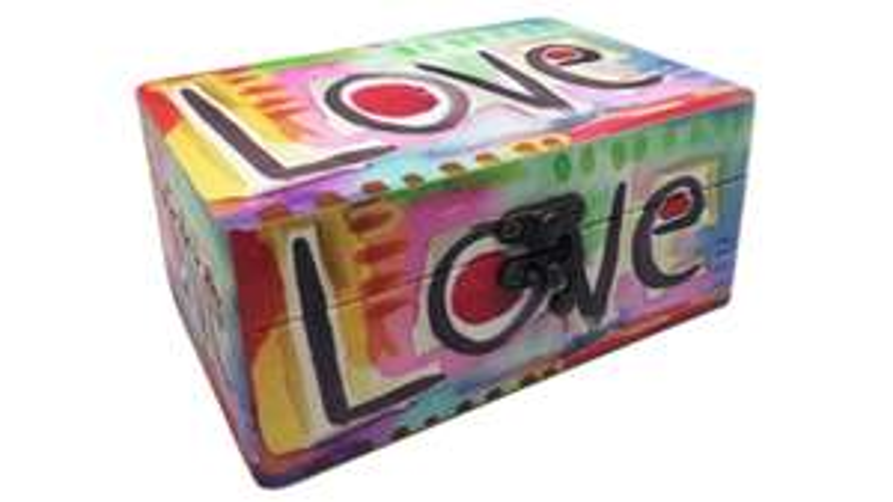 "Holzbox ""Love"" (16 x 11 x 7 cm) [MÜLLER]"