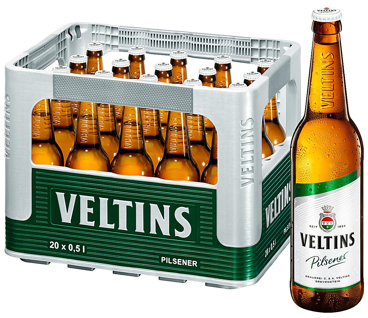 Veltins Bier (Kasten 20x0,5l) + 6x0,33l Grevensteiner Landbier bei [Rewe]