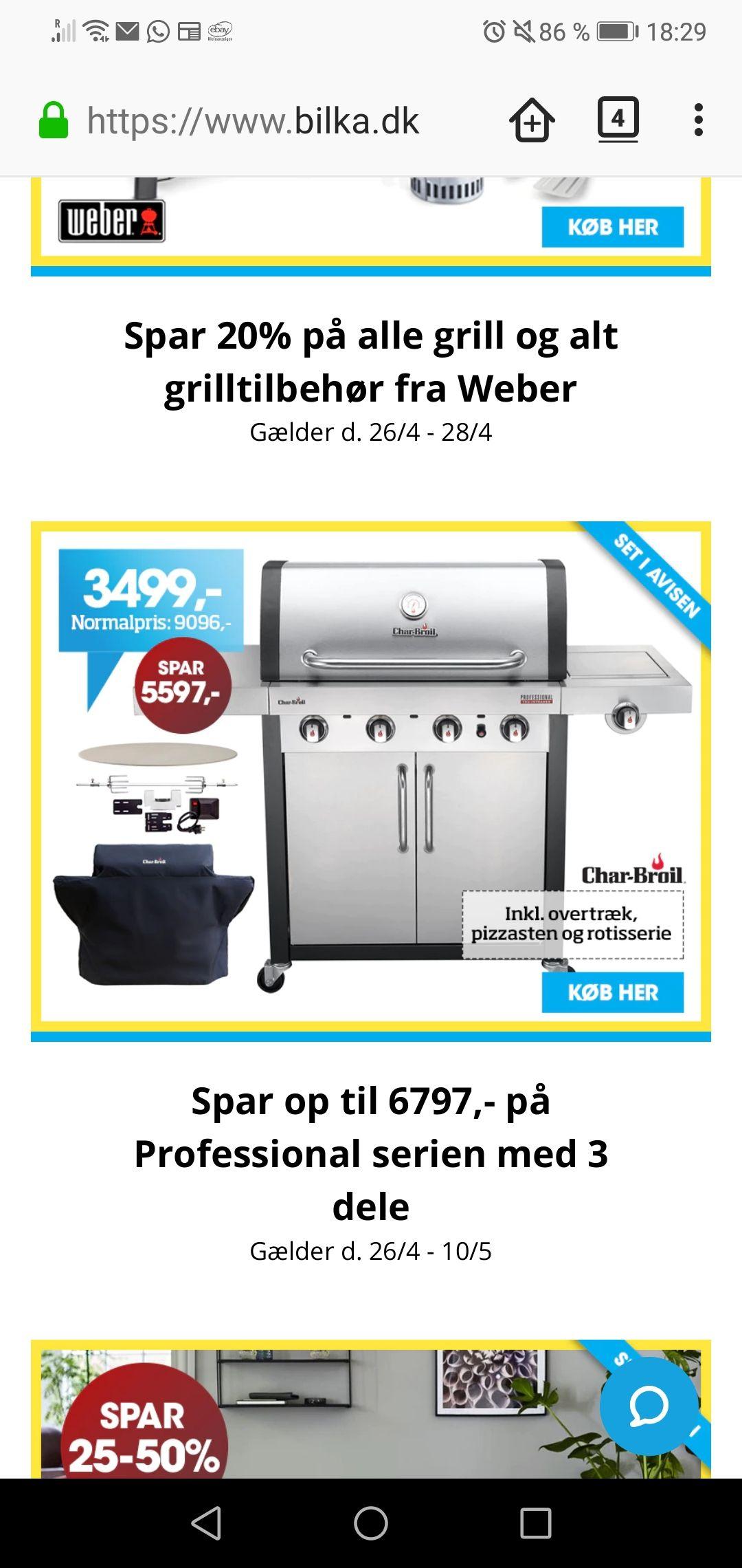 (Bilka in DK) Char-Broil Professional 4400