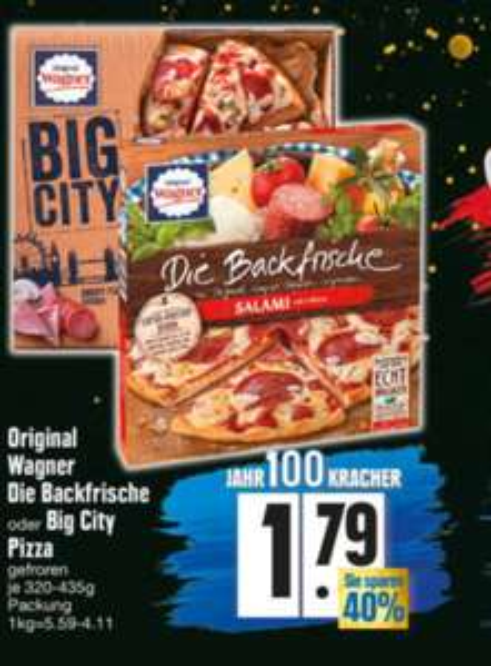Edeka Südbayern: 2x Wagner Pizza: Backfrische oder Big Pizza mit Coupon