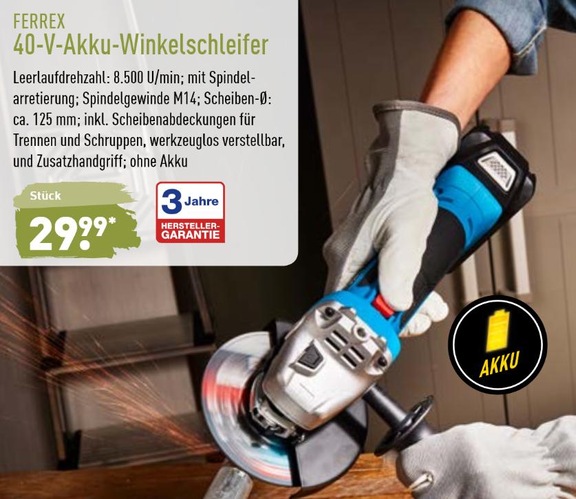40V Akku-Winkelschleifer [lokal Aldi_nord]