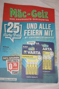 Set VARTA Batterien für 75 Cent