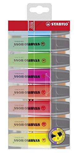 STABILO Boss Original - 8 verschiedenen Farben Textmarker für 6€ (Amazon Prime & Saturn)