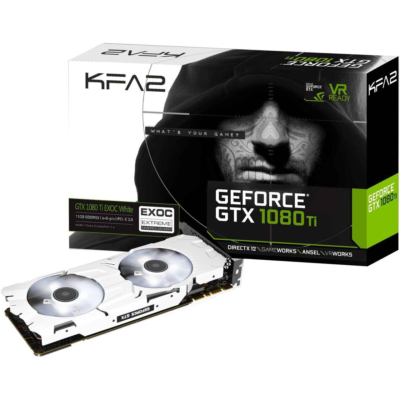 KFA2 GeForce GTX 1080 Ti EXOC White Aktiv PCIe 3.0 x16