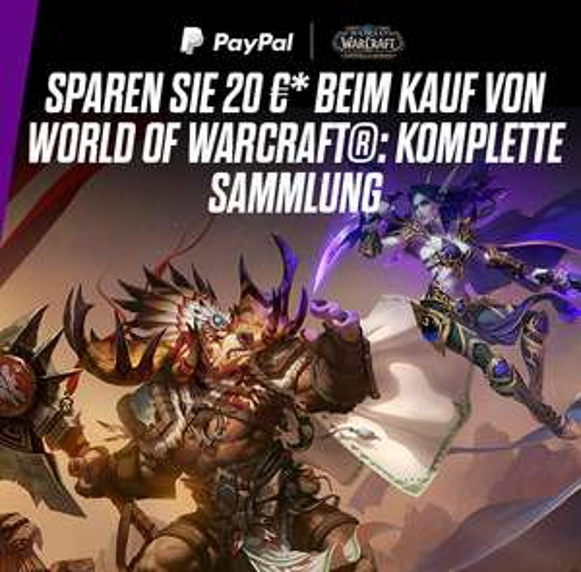 20 € Rabatt auf  Spiel + alle Erweiterungen von World of Warcraft