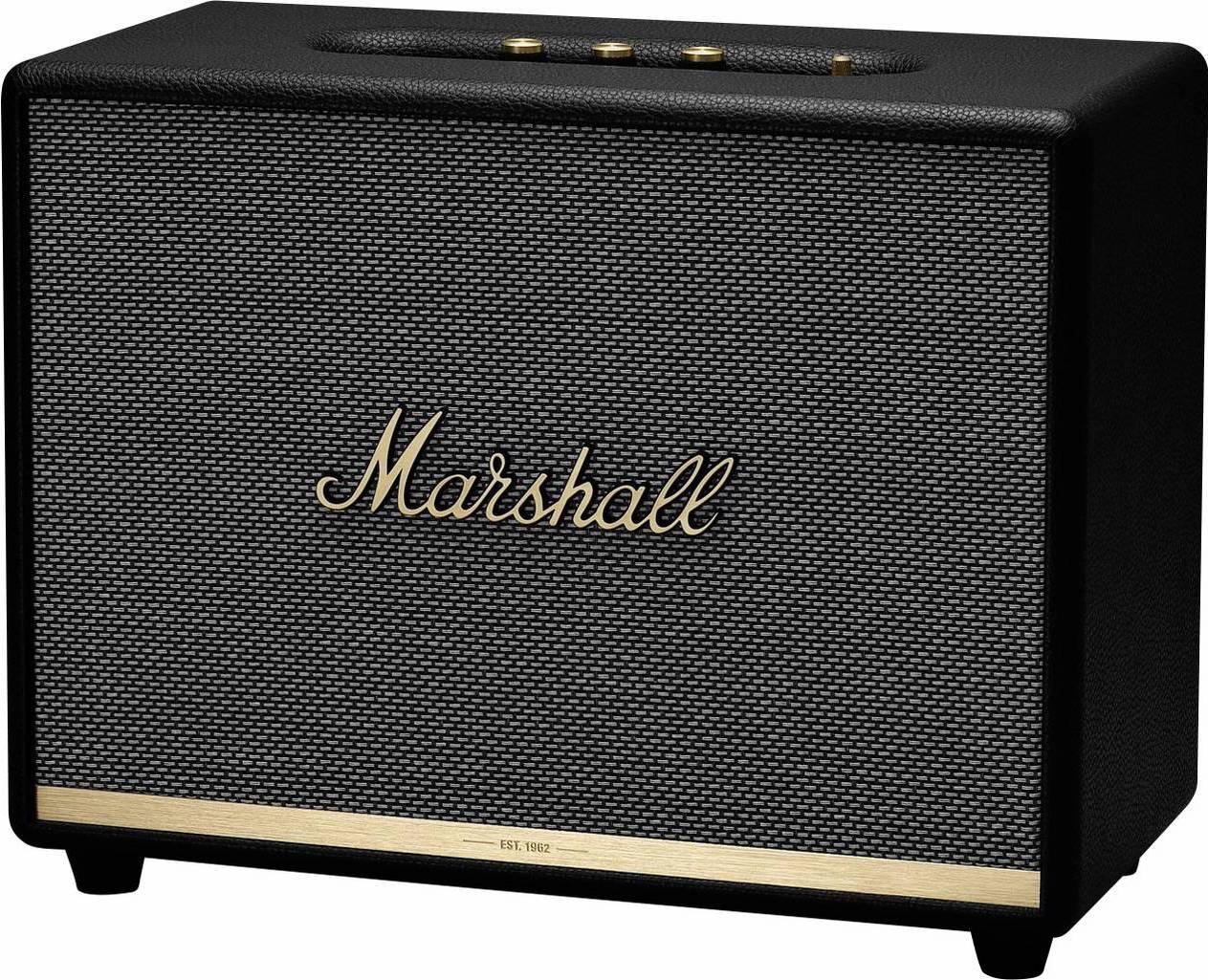 Marshall Woburn II Bluetooth Lautsprecher (110W Ausgansleistung, Bluetooth 5, aptX, Multi-Host, 3,5mm AUX, Cinch, Appsteuerung)