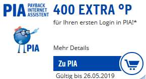 [Payback] 400°P (~4€) für erstmaliges Einloggen in der PIA-Erweiterung im Browser | personalisiert
