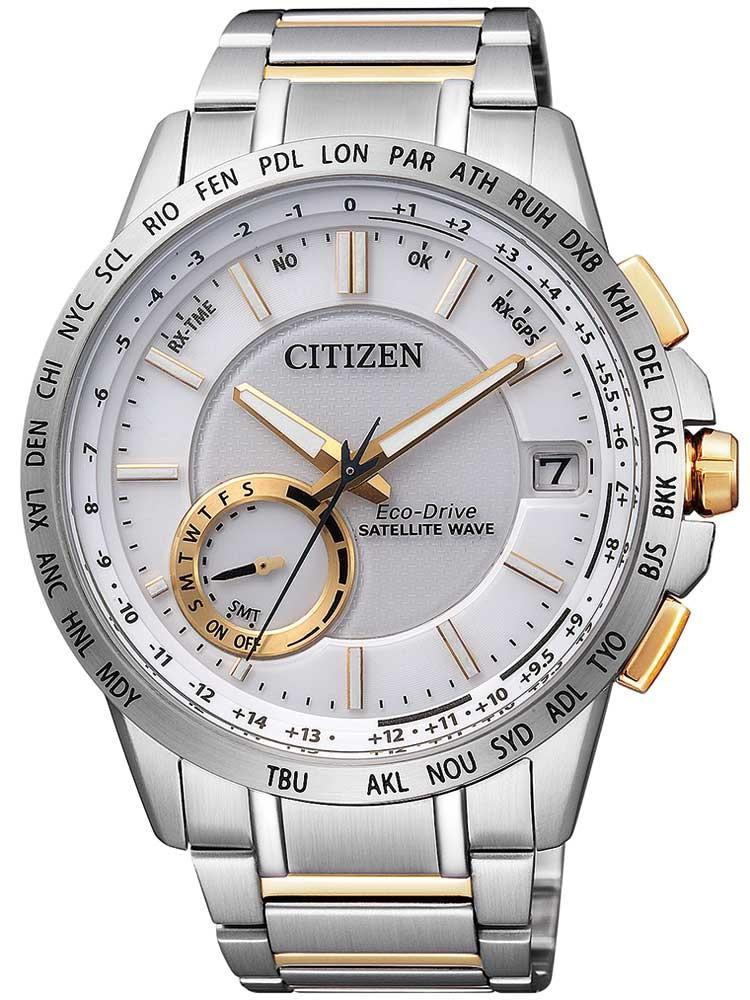 [Timeshop24] Herrenuhr Citizen CC3004-53A EcoDrive Satellite-Wave GPS (GPS Funk, Ecodrive, Saphir, 7 Jahre Dunkelgang, 10 bar)