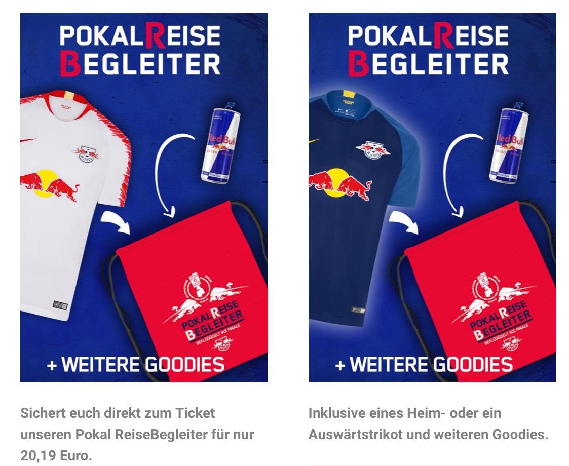 [online RBL Ticketshop ab 6.5.19] + Limitiert + DFB-Pokalfinale-ReiseBegleiter für RBL-Fans für 20,19€ inkl. Trikot (Ticket vorausgesetzt)