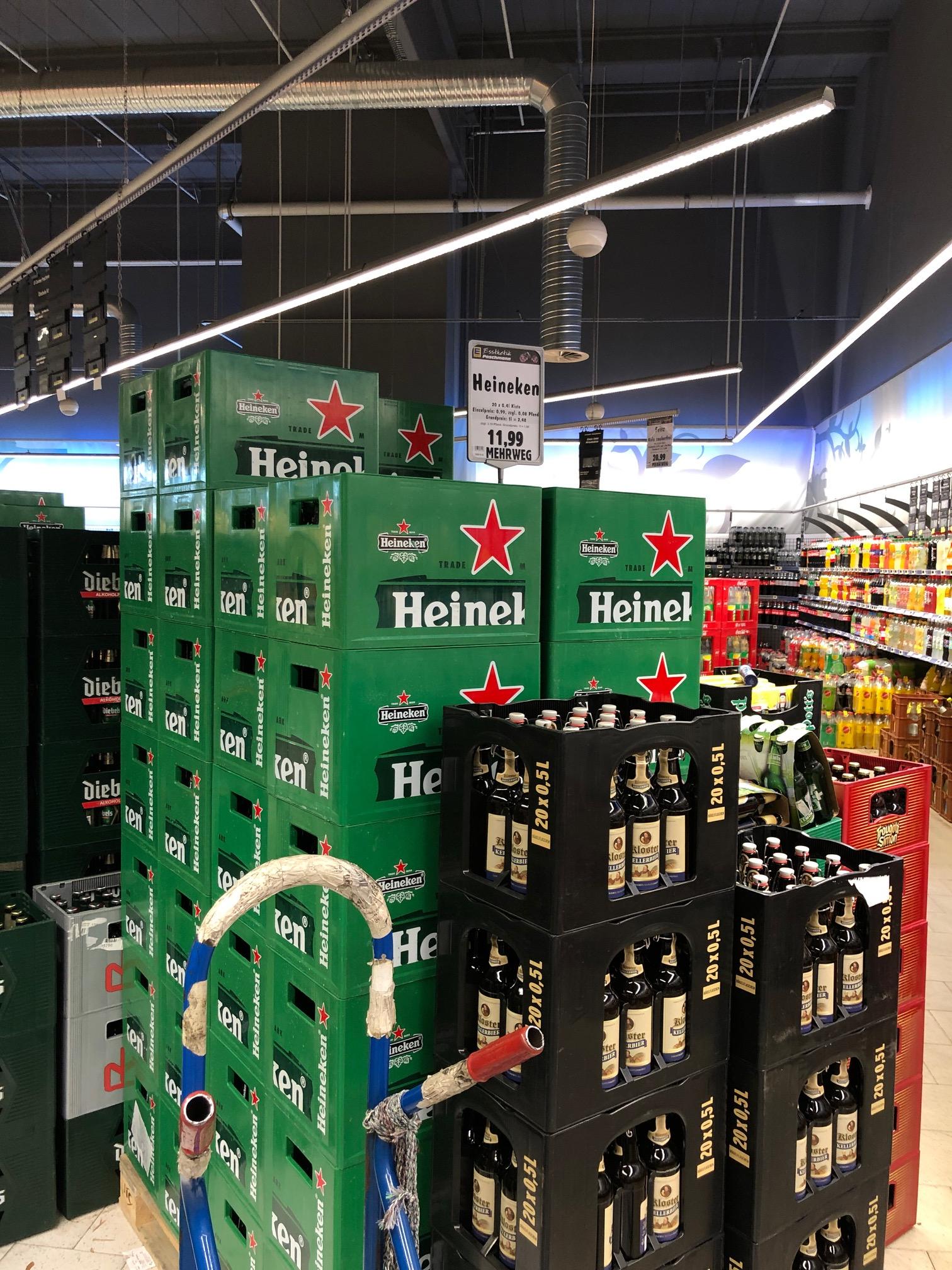 [LOKAL RUHRGEBIET] Edeka Mülheim - 1 Kiste (20x0,4L) Heineken für 11,99 + Pfand 3,90