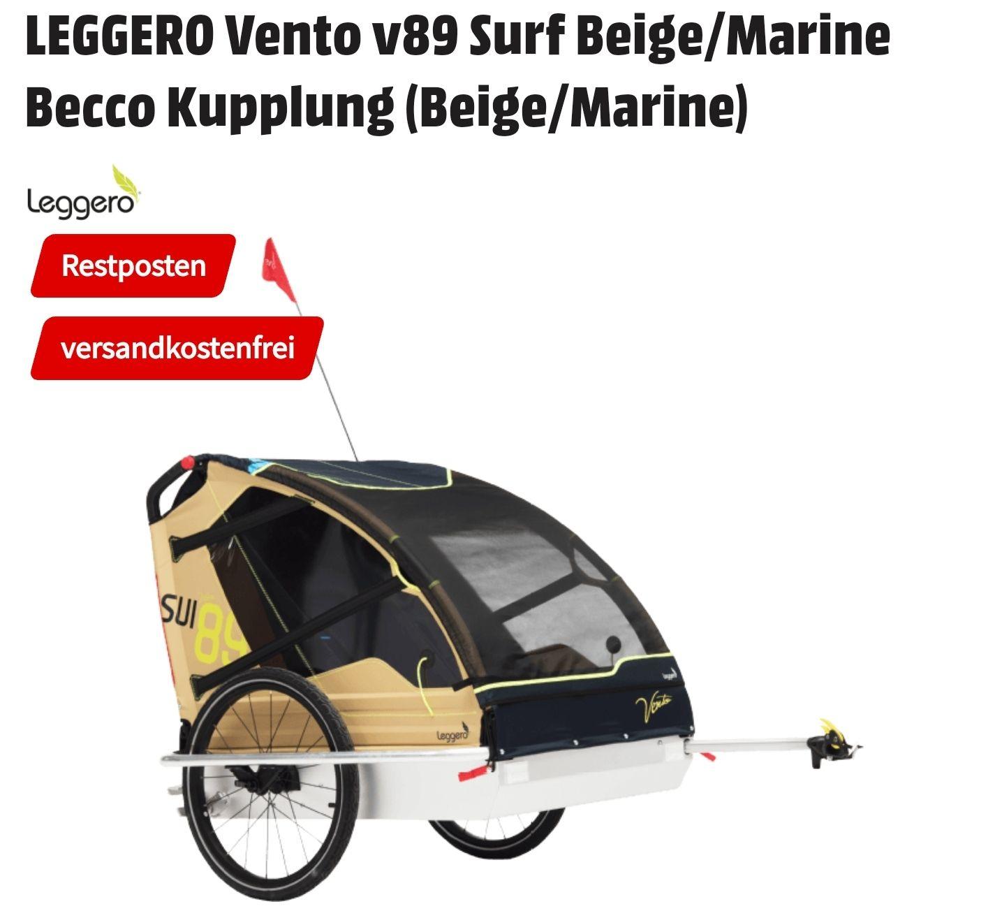 Leggero Vento v89 surf Kinder Fahrradanhänger