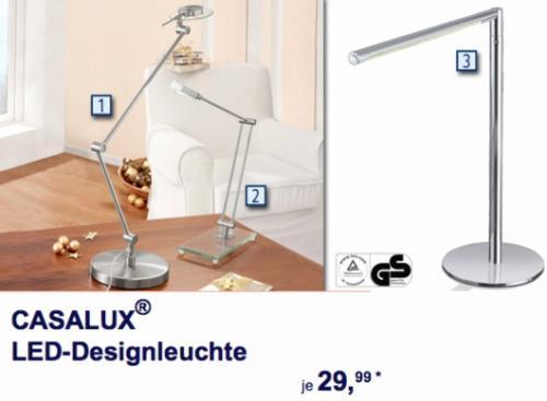ALDI Süd: LED -Tischleuchen und -Deckenfluter