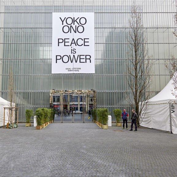 """""""PEACE IS POWER"""" - freier Eintritt in die Leipziger Yoko-Ono-Ausstellung am 1. Mai, 5. Juni und 3. Juli"""