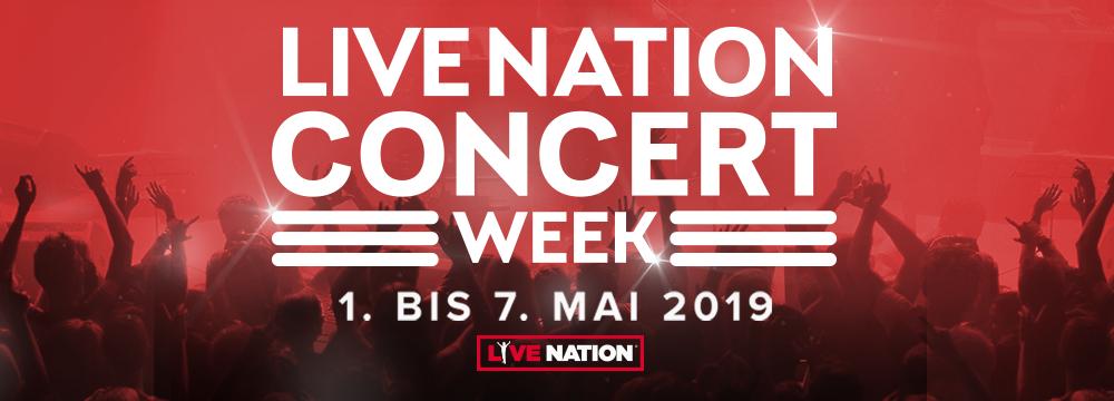Live Nation Concert Week - Tickets zum halben Preis