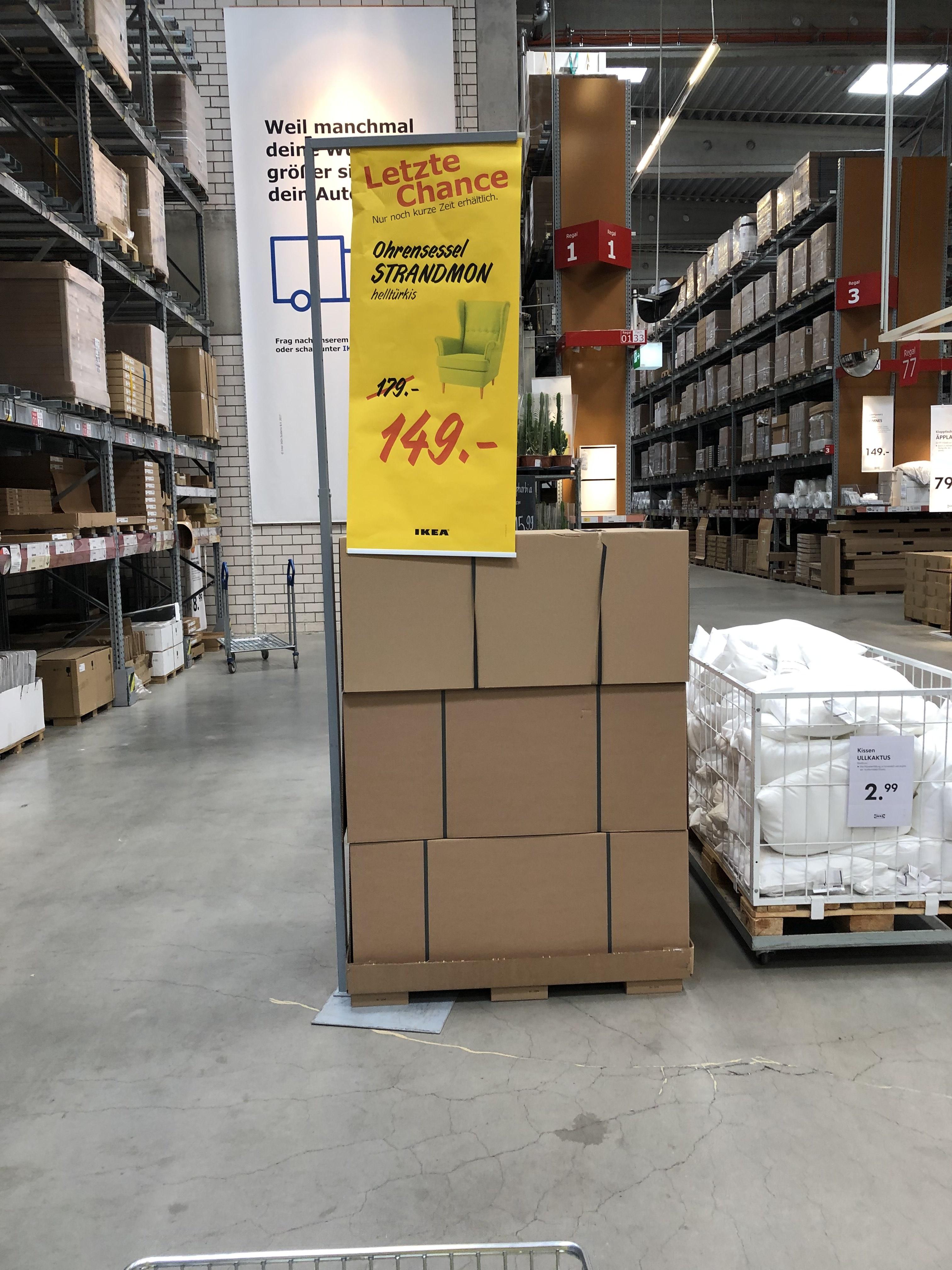 (Lokal Dresden) IKEA Strandmon Ohrensessel Türkis