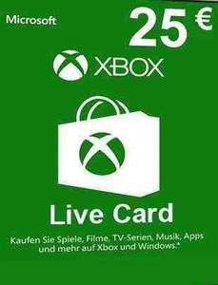 Xbox Live 25€ Guthaben für 16,99€