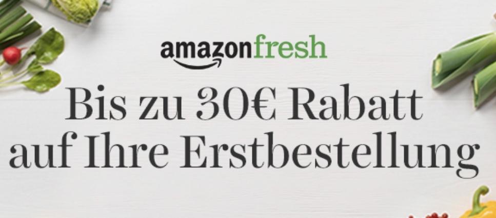 20€, 25€ oder 30€ Rabatt für die Erstbestellung bei Amazon Fresh - MBW 60€, 75€ o. 90€ - bis 09.06.2019 [Berlin, Potsdam, Hamburg, München]