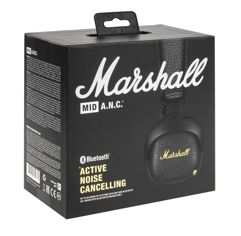 Marshall Mid ANC Bluetooth Kopfhörer mit Noise-Cancelling On-Ear schwarz für 133,61€ inkl. Versandkosten