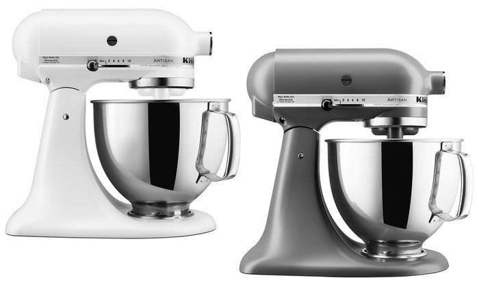 KitchenAid Artisan 4,8 L (5KSM150PS) in weiß oder silber [Groupon]